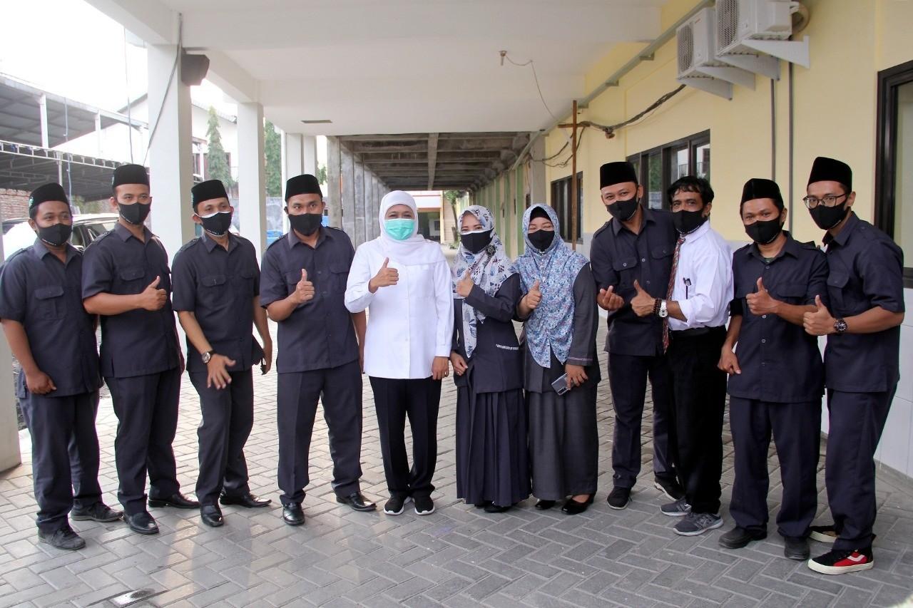 Kunjungan Gubernur Jawa Timur, Bupati dan Wakil Bupati Sidoarjo